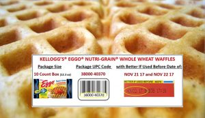 recall on Kellogg's Ego Nutri-grain waffles