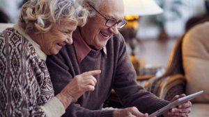 Grandparents on iPad